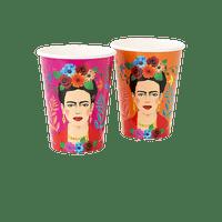 Gobelet Carton Frida Kahlo Orange x12