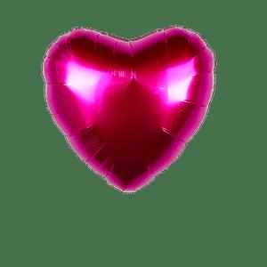 Ballon Coeur Fuchsia 45 cm