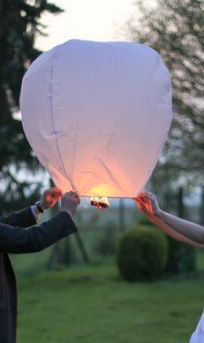 Attendez 1mn30 que la lanterne se gonfle