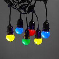 Guirlande Guinguette Pendante Ampoules Remplaçables Multicolores 10 m