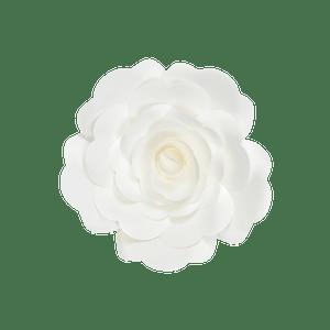 Fleur En Papier Rose Blanc 20 cm