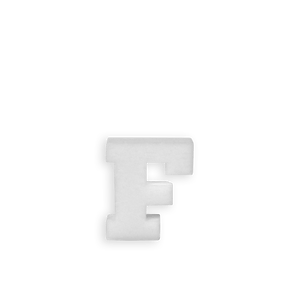 Lettre F en Polystyrène 10cm
