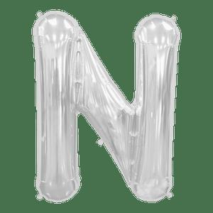 Ballon Lettre N Argent 90 cm
