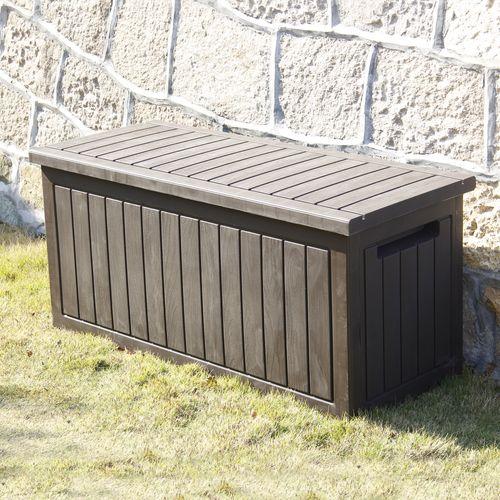 Coffre de Jardin 285L Marron Effet Bois