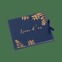 Livre D'Or Fougères Marine et Cuivre 22 cm