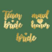 Tatouage Papier Team Bride Or x13