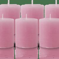 Pack de 6 Bougies Rustiques Vieux Rose 8x7cm