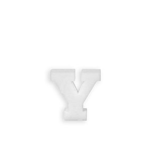 Lettre Y en Polystyrène 10cm