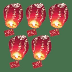 Lot de 5 Lettres au Père Noël volante®