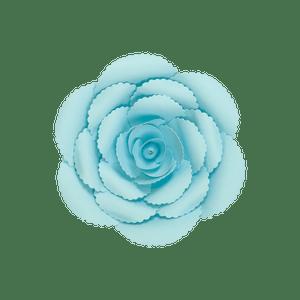 Fleur En Papier Rose Ancienne Turquoise 20 cm