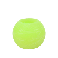 Bougie ronde LED Verte 12x10cm