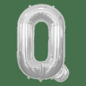 Ballon Lettre Q Argent 90 cm