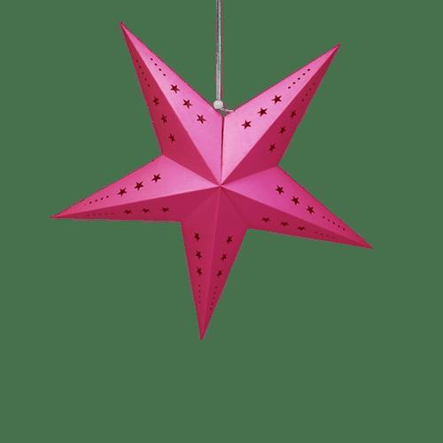 Décoration Pour Mariage & Fête Etoile Déco Fuchsia 60Cm (Lot De 3 Pièces)
