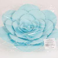 Fleur En Papier Rose Ancienne Turquoise 30 cm