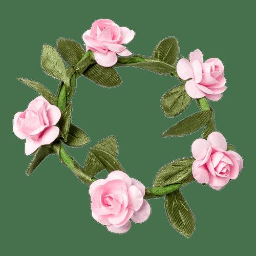 Marque Place Couronne de Roses Rose x4