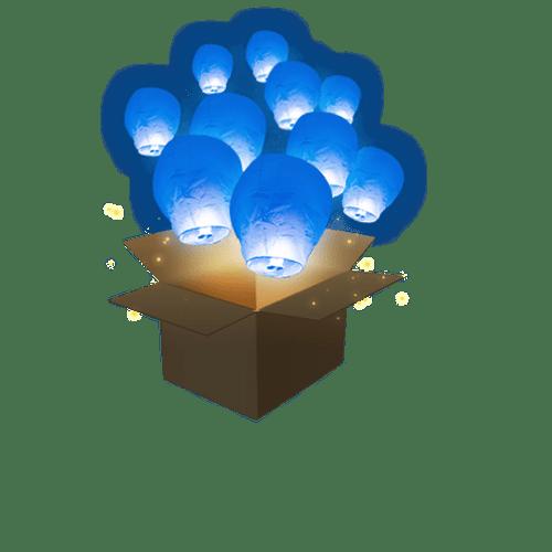 Balloon Bleu Roi x10