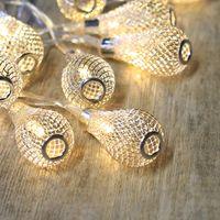 Guirlande Lumineuse Bulbes Métalliques Argent
