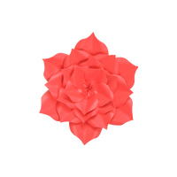 Fleur En Papier Gardénia Rouge 20 cm