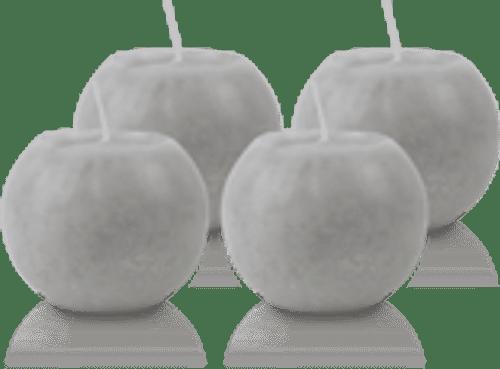 Pack de 4 Bougies Rondes Marbrées Gris 8cm