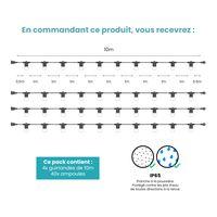 Kit Guirlande Guinguette 40m IP 65 Transparent
