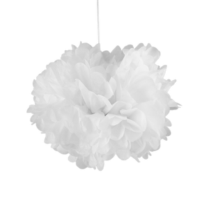 Pompons Blanc 30cm x2