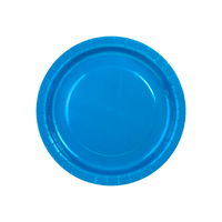 Assiette Carton Bleu Roi x6