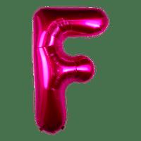 Ballon Lettre F Fuchsia 90 cm