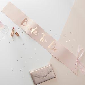 Echarpe Papier Bride to Be Rose gold et rose x5