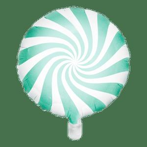 Ballon Bonbon Aluminium vert d'eau 45cm