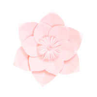 Fleur En Papier Clématite Rose Pâle 30 cm