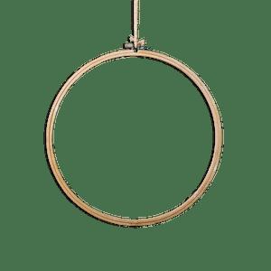 Cercle attrape reve Bois Naturel 30 cm