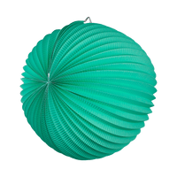 Lampion rond 36 cm Vert d'Eau