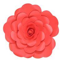 Fleur En Papier Rose Rouge 30 cm
