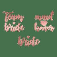Tatouage Papier Team Bride Rose Gold x13