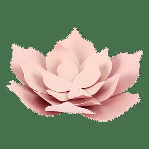 Fleurs Papier Succulente Centre de Table Rose Pâle x3