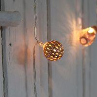 Guirlande Lumineuse Boules Marocaines Cuivre