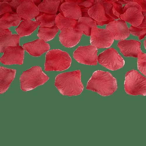 Petale De Rose Tissu Rouge x100