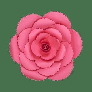 Fleur En Papier Rose Ancienne Fuchsia 30 cm