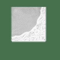 Serviette papier liseré argent x20