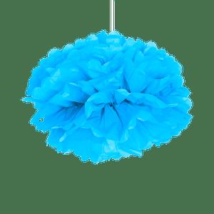 Pompons Turquoise 40 cm x2