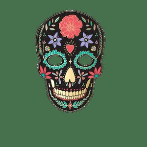 Masque Photo Booth Carton Dia de Los Muertos Noir