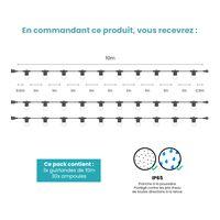 Kit Guirlande Guinguette 30m IP 65 Transparente
