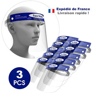 Lot de 3 Visieres Anti-Projection transparente 32x22
