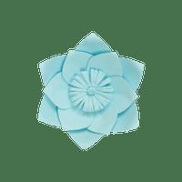 Fleur En Papier Clématite Turquoise 20 cm