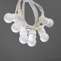 Guinguette Ampoules Remplaçables Blanc 10 m Cable Blanc