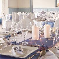 Chemin de Table Satin Bleu Turquoise 9m