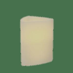 Bougie LED Ivoire 13cm Triangle