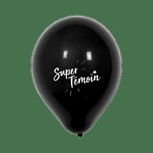 """Ballon Mariage """"Super témoin"""" Noir"""