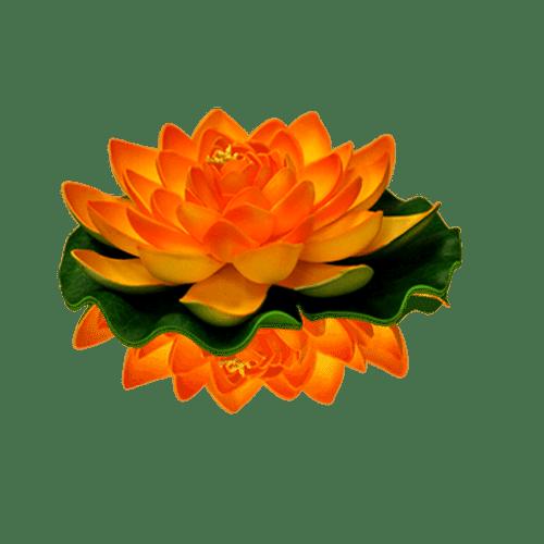 Lanternes Flottantes Mariage, Fête, Anniversaire Lotus Natural Orange (Lot De 3 Pièces)