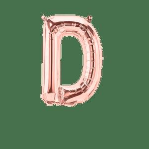 Ballon Lettre D Rose Champagne 35cm